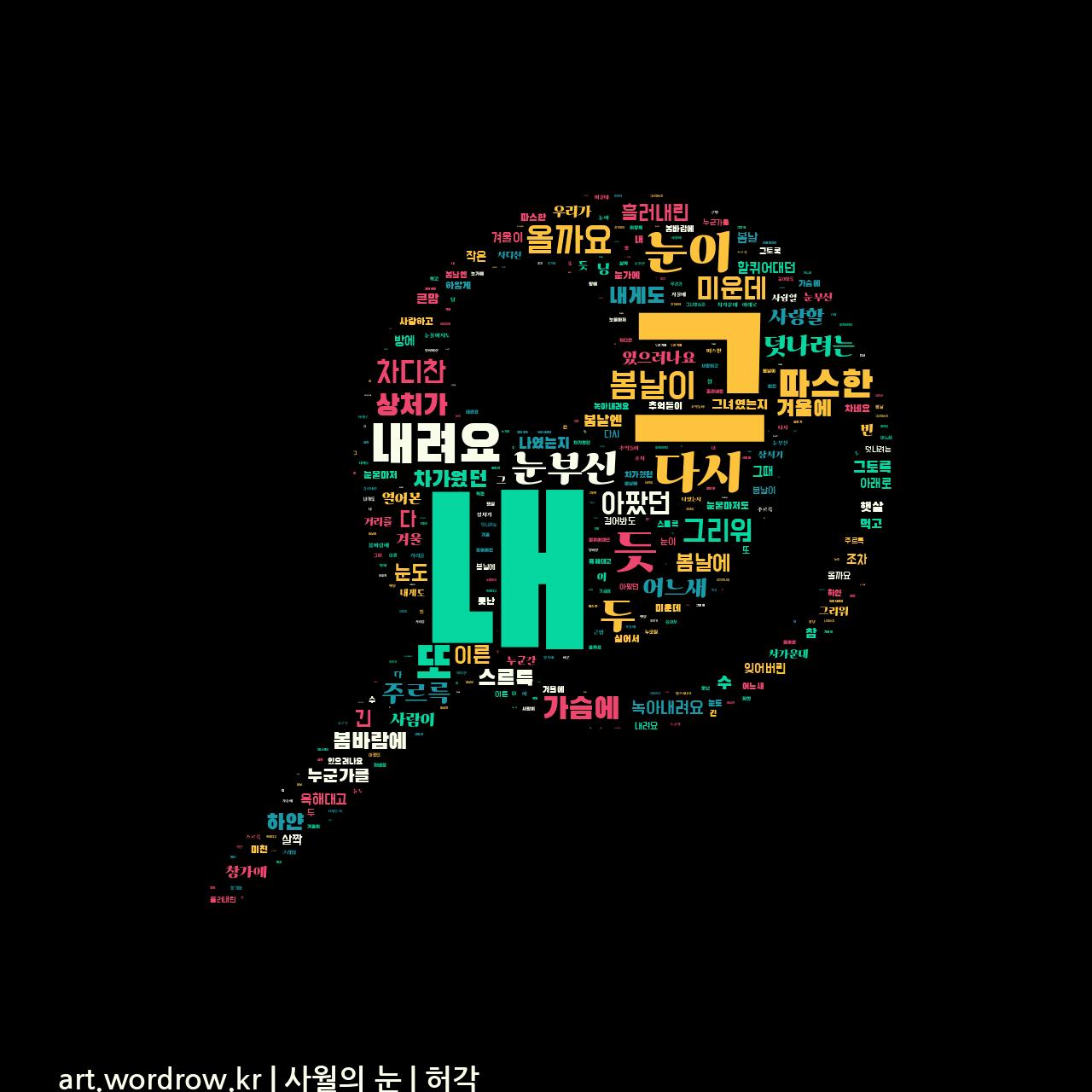 워드 클라우드: 사월의 눈 [허각]-8